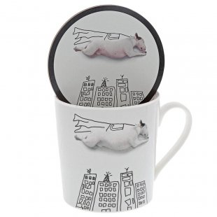 'Super Dog' Mug & Coaster Set