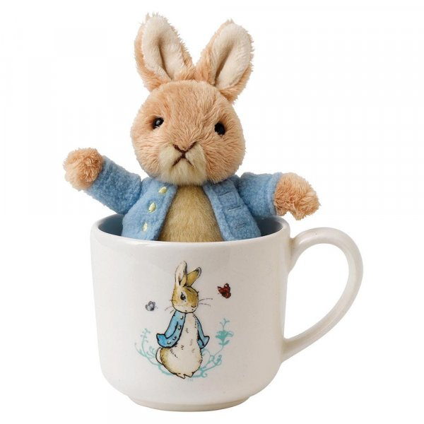 Peter Rabbit Baby Gift Sets : Peter rabbit mug soft toy gift set enesco