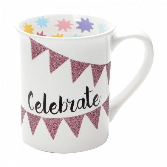 Celebrate Glitter Mug
