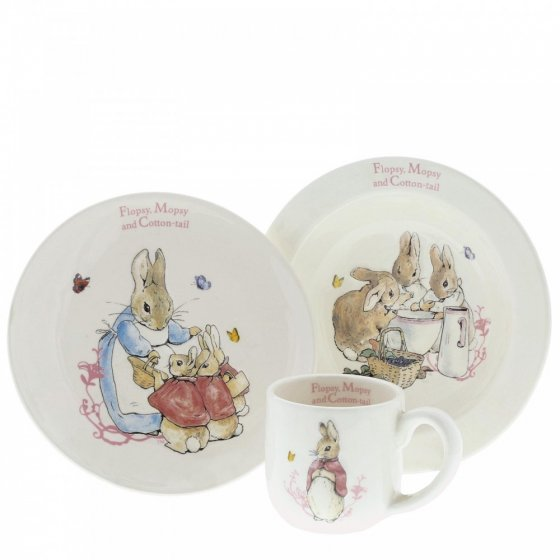 Flopsy, Mopsy & Cotton-tail Three-Piece Nursery Set
