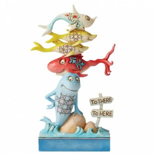 One Fish, Two Fish, Red Fish, Blue Fish Figurine
