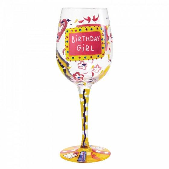 Birthday Girl Wine Glass