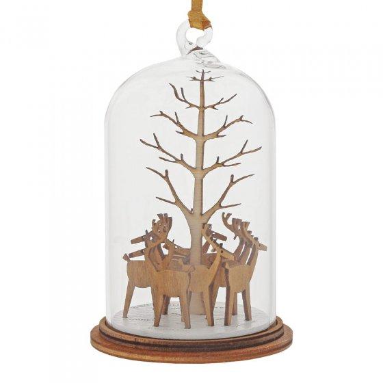 Santa's Reindeer Hanging Ornament