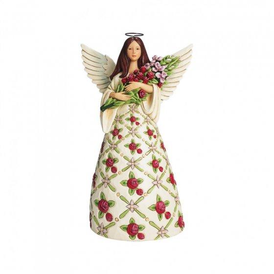 Red Roses Angel Figurine