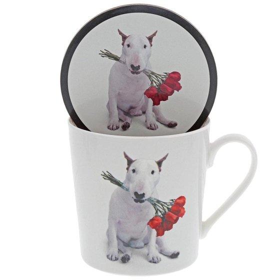 'Red Roses' Mug & Coaster