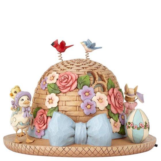 Bonnet of Easter Blessings (Lit Easter Bonnet Centerpiece)