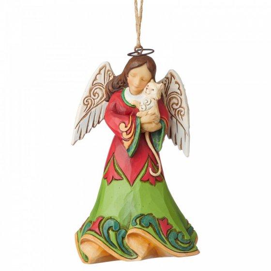 Angel Holding Kitten (Hanging Ornament)