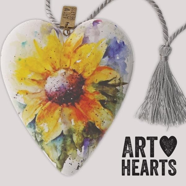 Enesco presents new water colour Art Hearts by acclaimed artist,  Dean Crouser.