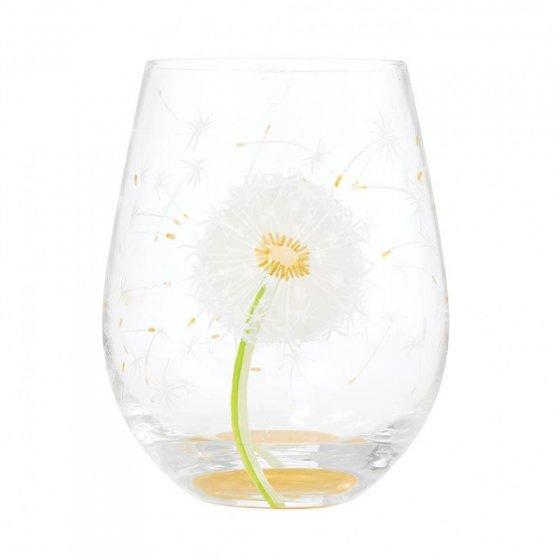 Dandelion Wish Stemless Glass by Lolita