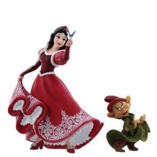 Christmas Snow White & Dopey Figurine