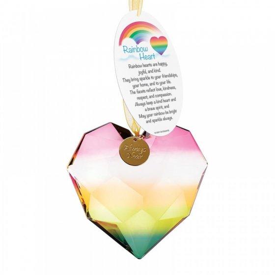 Rainbow Acrylic Heart Hanging Ornament - 2 assorted