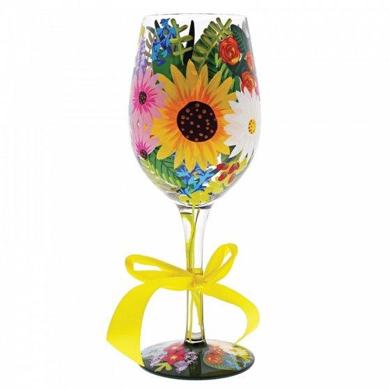Lolita Wildflowers Wine Glass
