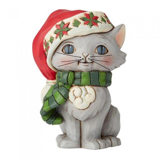 Christmas Kitten Mini Figurine