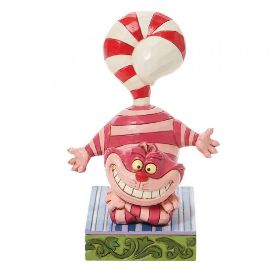 Candy Cane Cheer - Cheshire Cat Cane Tail Figurine