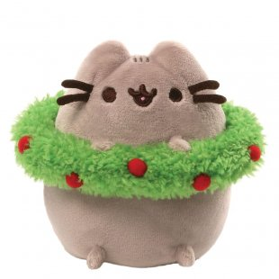 Pusheen Christmas with Wreath (pack 4)