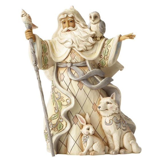 One Love For All (White Woodland Santa with Cane)