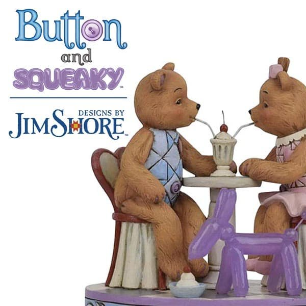 Popular artist Jim Shore adds a new figurine collection into Enesco's range — Button and Squeaky