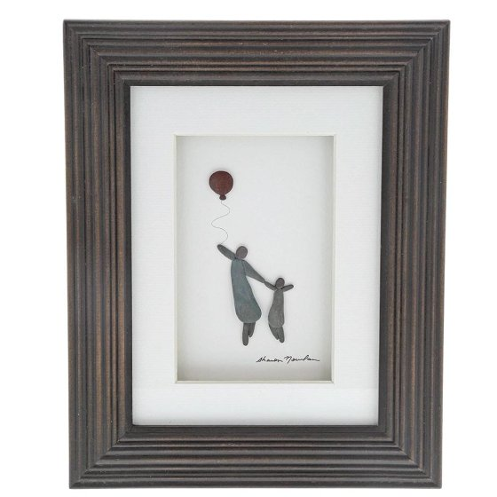 Big and Little Framed Picture 20cm x 25cm