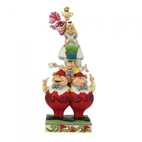 We're All Mad Here - Stacked Alice in Wonderland Figurine