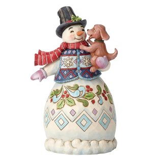 Warm Wishes and Puppy Dog Kisses (Snowman with Dog)