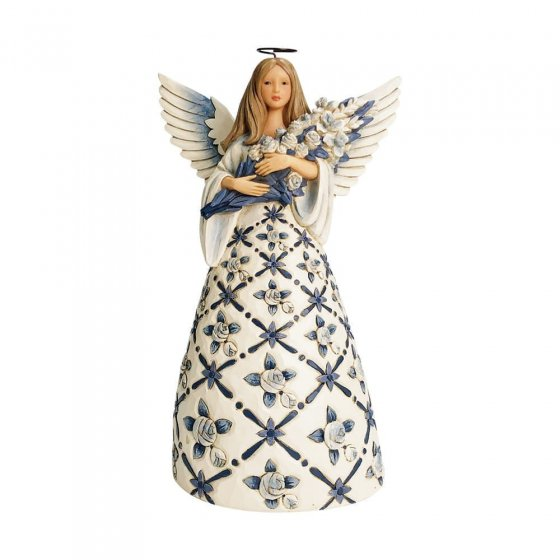 Behold the Beauty of Each Blessing - Blue Angel with Roses -