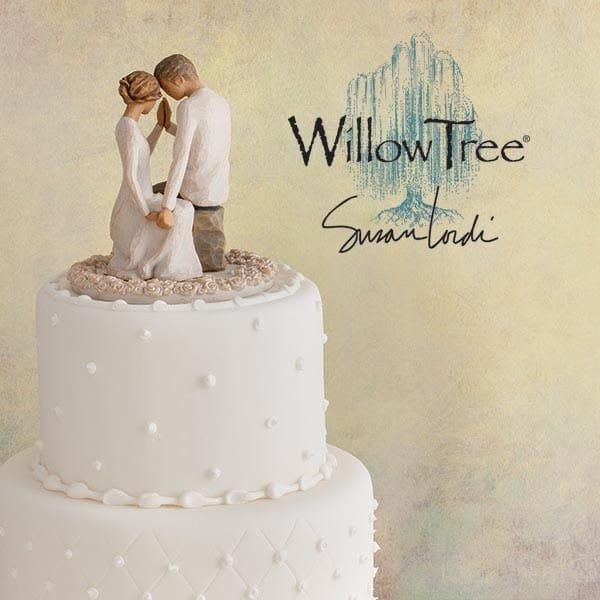 willow tree around you cake topper enesco