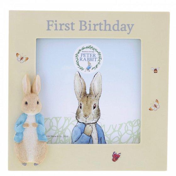 Peter Rabbit First Birthday Photo Frame