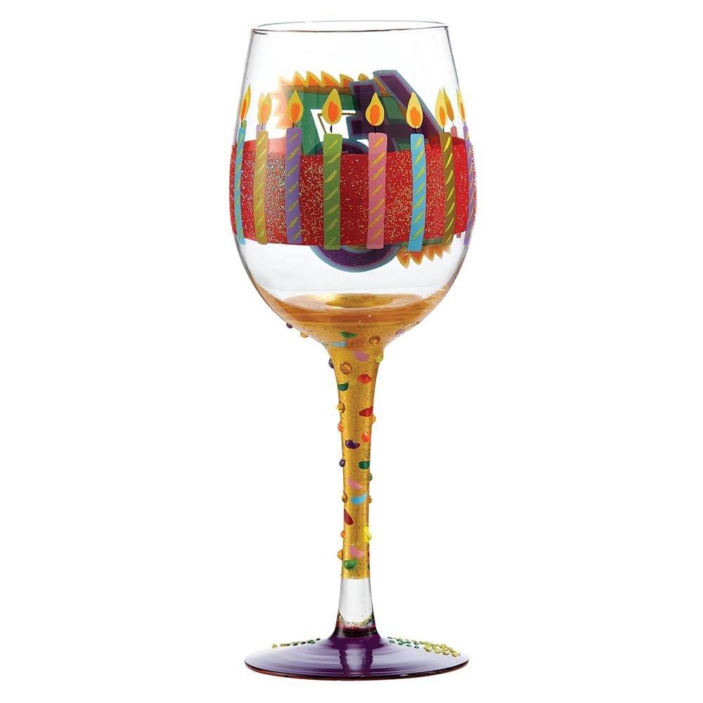 40th birthday wine glass enesco - Beaker wine glasses ...