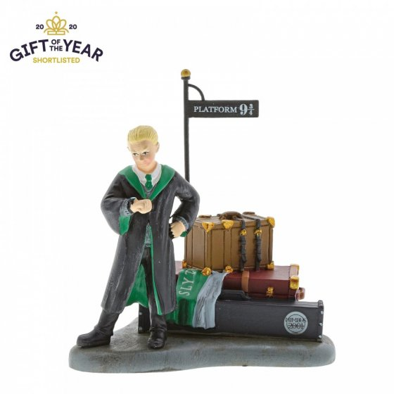 Draco Malfoy Waits at Platform 9 3/4 Figurine