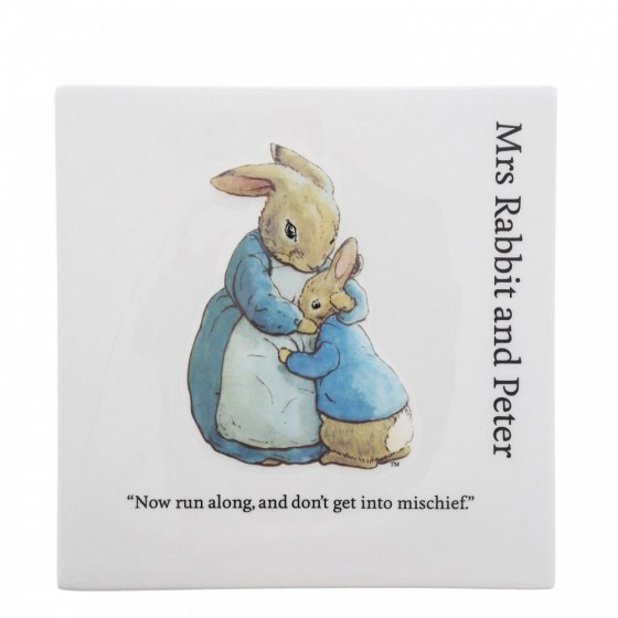 Mrs. Rabbit and Peter Decorative Wall Plaque