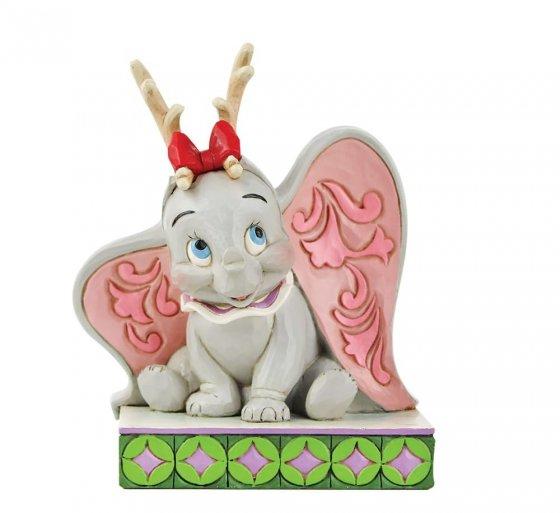 Santa's Cheerful Helper - Flying Dumbo as a Reindeer Figurin
