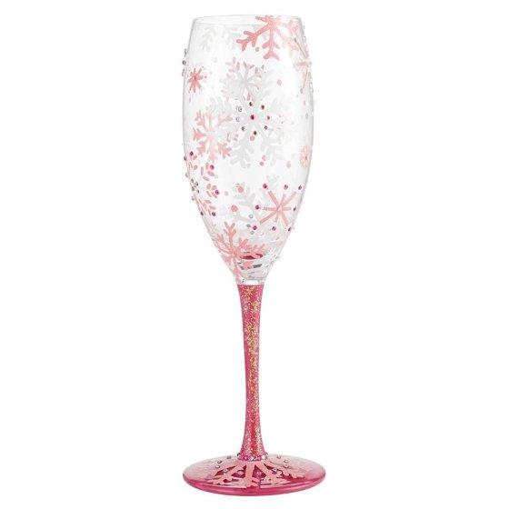 Blushing Snowflakes Prosecco Glass