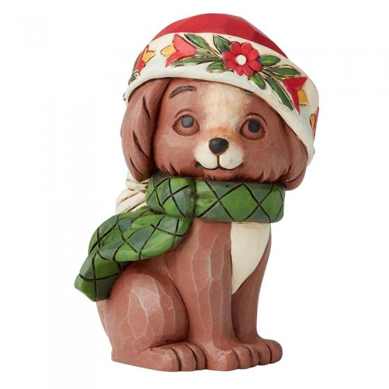 Christmas Puppy Mini Figurine