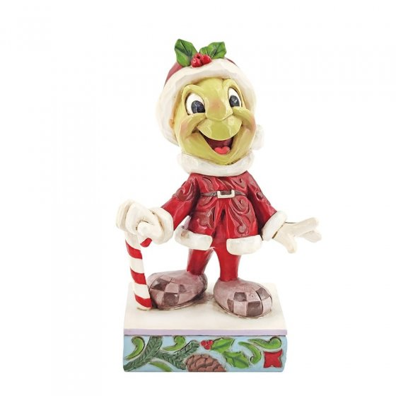 Be Wise and Be Merry - Christmas Jiminy Cricket Figurine