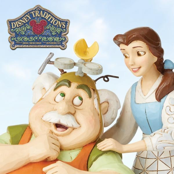 Enesco presents new never-before-seen Belle and Maurice figurine in its Disney Traditions by Jim Shore collection.