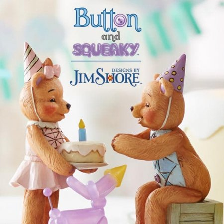 Make a Wish! New collectable figurine in the Button and Squeaky range from Jim Shore