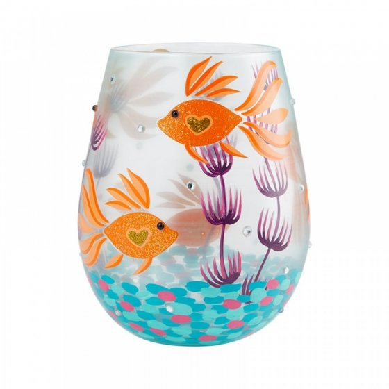 Turquoise Waters Stemless Glass by Lolita