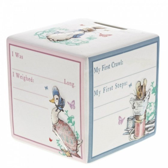 Peter Rabbit New Baby Money Bank