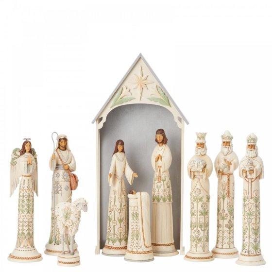 White Woodland Nativity Set - Limited Edition Masterpiece