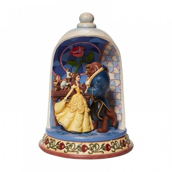Enchanted Love - Beauty and the Beast Rose Dome Figurine