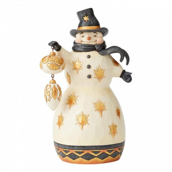 Be Merry, Be Bright (Black & Gold Snowman)
