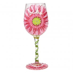 Mum's Love in Bloom Wine Glass