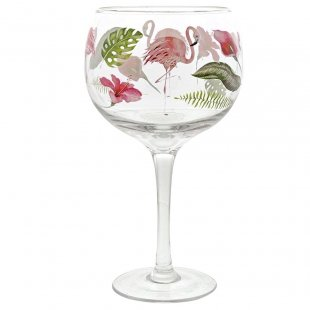 Flamingo Copa Glass