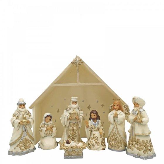 Blessed Birth In Bethlehem (9 piece mini nativity set)