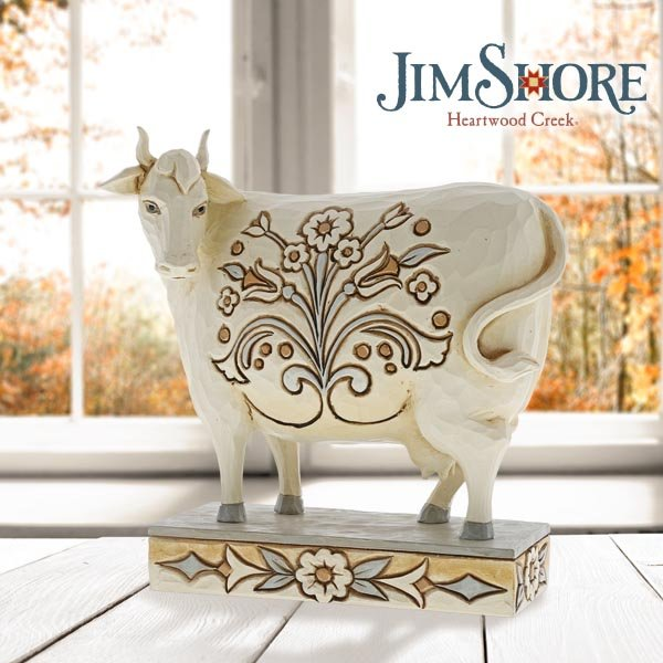 Farm yard animals join Jim Shore's White Woodland Collection