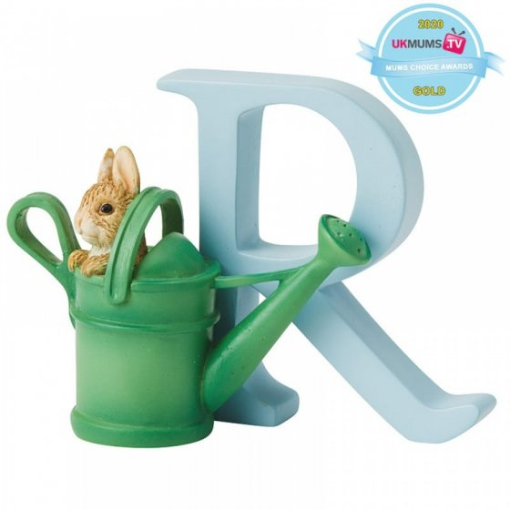 """""""R"""" - Peter Rabbit in Watering Can"""