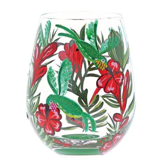 Hummingbird Stemless Glass