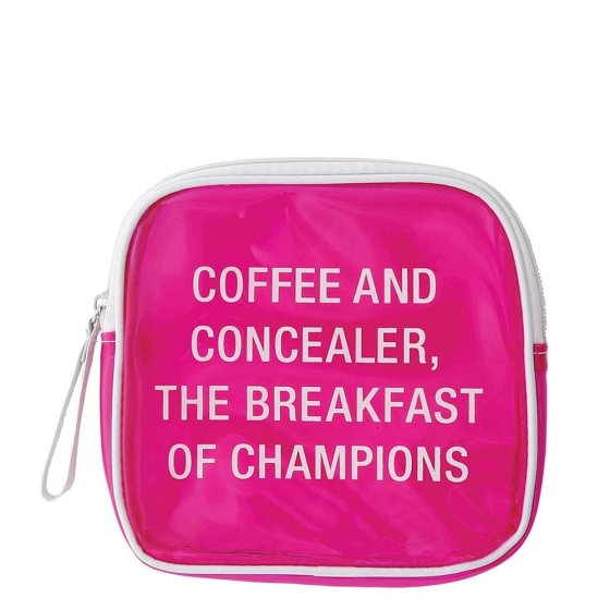 Coffee and Concealer Cosmetic Bag